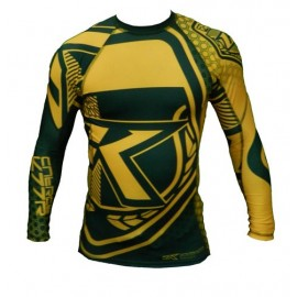 "Contract Killer ""Brazil"" Rashguard Long Sleeve Yellow"