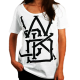 Photo de T-Shirt Wicked One Swinger Blanc femme en coton pour Soldes 2013TFS