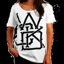 T-Shirt Wicked One Swinger Blanc femme en coton