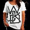 Photo de T-Shirt Wicked One Swinger Blanc femme en coton pour Soldes 2013TFS