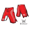 Booster Fight Gear MMA Shorts Pro Shade red images, photos, pictures on MMA & Val Tudo Shorts MS-BG-PS03