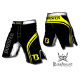 Booster Fight Gear MMA Shorts Pro Black and Yellow images, photos, pictures on Old Collection MS-BG-PS02