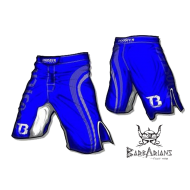 "Photo de Short MMA Booster Fight Gear \""Pro Shade\\"" bleu pour Short MMA MS-BG-PS01"