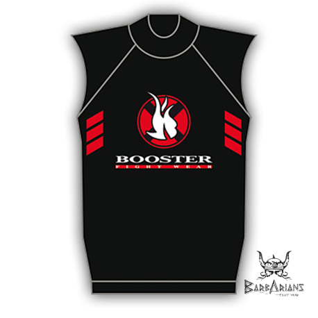 Booster Fight Gear black Rashguard short sleeve images, photos, pictures on MMA Rashguards RG-NS Booster Rashguard