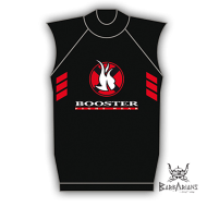 Booster Fight Gear black Rashguard short sleeve