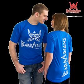 Barbarians Fight Wear T-Shirt blau Baumwolle Elasthan