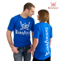 Barbarians Fight Wear T-shirt blue cotton elastane