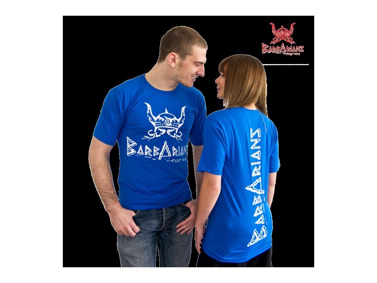 Retrouvez nos Tee-shirt Barbarians Fight Wear Bleu Tee