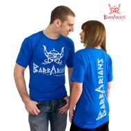 Barbarians Fight Wear T-Shirt blau Baumwolle Elasthan