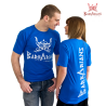 Barbarians Fight Wear T-shirt blue cotton elastane images, photos, pictures on Tee-Shirt  Tee-Bleu 01