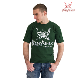 Barbarians Fight Wear t-shirt Green cotton elastane
