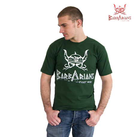 Barbarians Fight Wear t-shirt Green cotton elastane images, photos, pictures on Tee-Shirt  tee-vert Barbarians 01