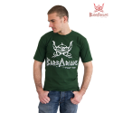 Tee-shirt  Barbarians Fight Wear Vert  Coton elastane