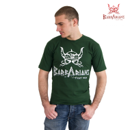 Barbarians Fight Wear T-shirt Grünes Baumwolle Elasthan