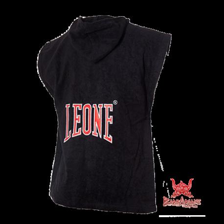 Photo de Poncho de boxe éponge Leone 1947 Noir pour Poncho de Boxe AB778