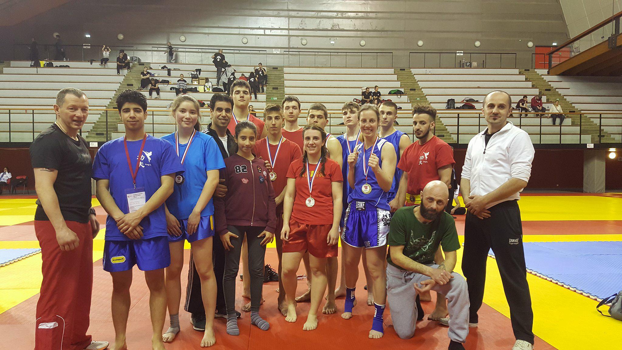 championnat france sanda 2018 barbarians fight wear Kung Fu contact Espoir | La Maison du Kung Fu Mutzig