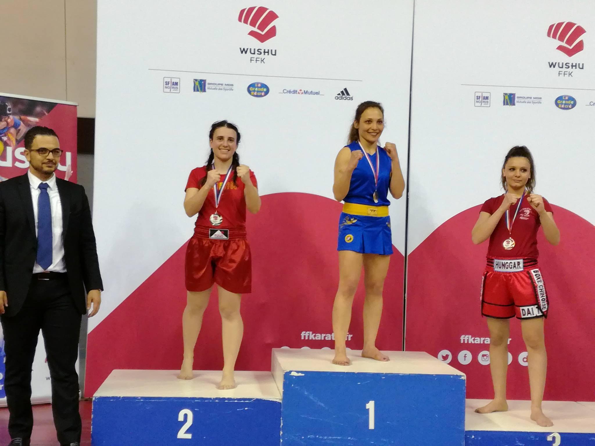 championnat france sanda 2018 angelique vogt barbarians fight wear honneur - 56 kg michel anstett entraîneur
