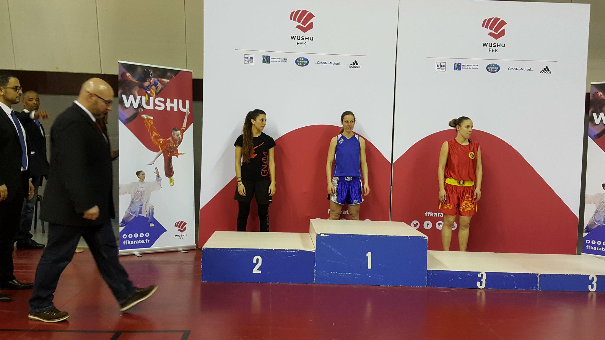 championnat france sanda 2018 marie-pierre Anstett barbarians fight wear elite - 56 kg michel anstett entraîneur