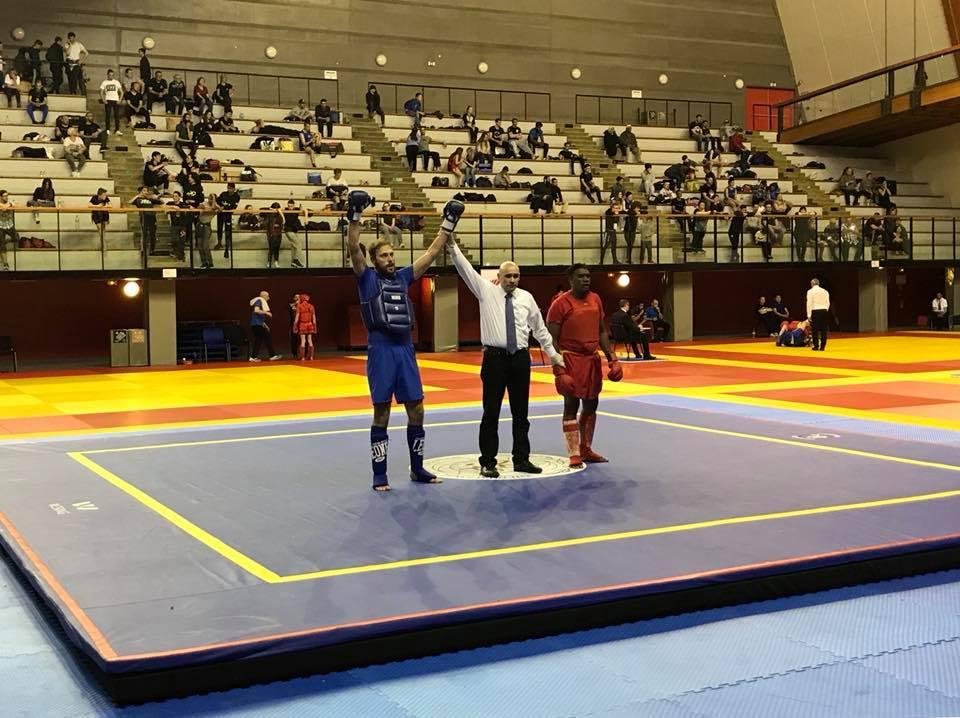 championnat france sanda 2018 virgil sollozo barbarians fight wear honneur  michel anstett entraîneur