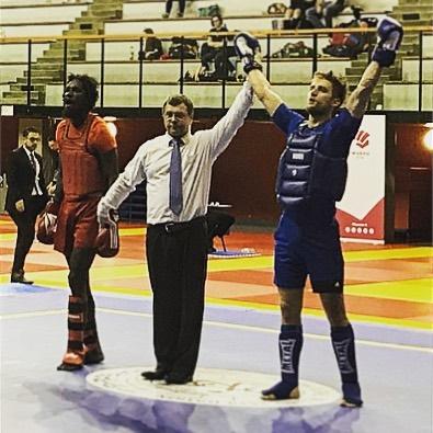 championnat france sanda 2018 ferid Muharemovic barbarians fight wear honneur  michel anstett entraîneur